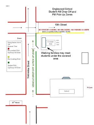 Englewood School Traffic Loading and Unloading