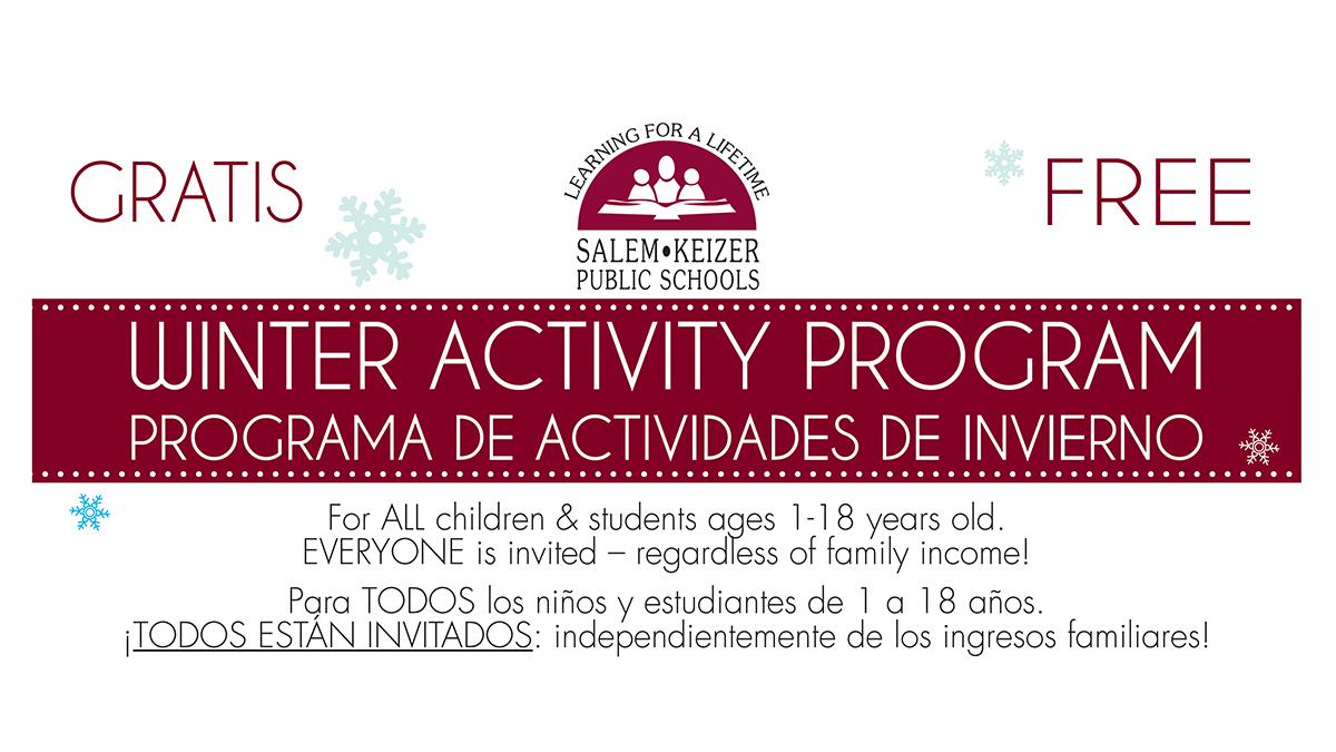 Winter Activity Program | PROGRAMA DE ACTIVIDADES DE INVIERNO